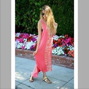 Gypsy05 Tie Dye Maxi Dress Sundress Beach Dress M